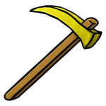 Gold Hoe Icon