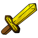 Gold Sword Icon