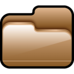 Folder Open Brown Icon
