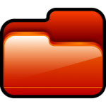 Folder Open Red Icon