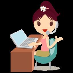 callcenter girls flower icon