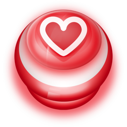 Button Red Love Heart Icon Ico Png Icns Icon Pack Download