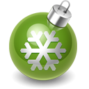 xmas decoration green icon