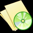 documents yellow music icon