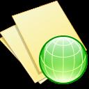 documents yellow web icon
