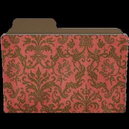 folder damask crimsony icon