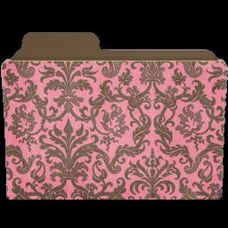 folder damask rosey icon