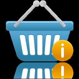 shopping basket info icon