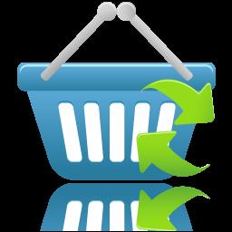 shopping basket refresh icon
